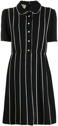 Gucci Striped Short-Sleeve Dress