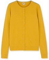 Petit Bateau Womens plain long-sleeved cardigan