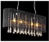 Belgravia Crystal Chandelier Pendant Light Glass, Black