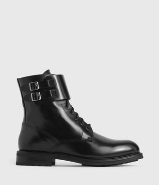 AllSaints Brigade Leather Boots
