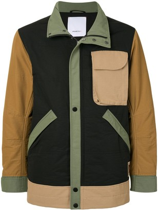 Ports V Colour-Block Zipped Jacket