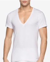 Calvin Klein Men's 2-Pk. Cotton Deep V-Neck Undershirts