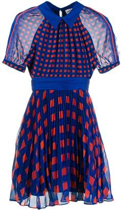 Self-Portrait Self Portrait printed pleated dress
