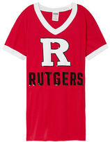 PINK Rutgers University Bling V-Neck Ringer Tee