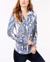 INC International Concepts Petite Paisley-Print Top, Created for Macy's