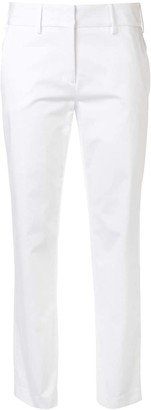 Eleventy Cropped Straight Leg Trousers