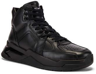 Balmain B-Ball Leather Sneaker in Noir & Noir | FWRD