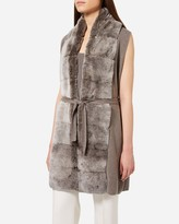 N.Peal Long Fur Placket Milano Gilet