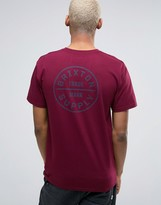 Brixton Oath T-shirt With Back Print