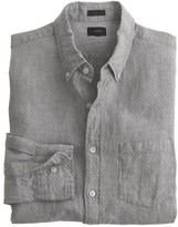 J.Crew Slim Irish linen shirt in dot