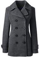 Lands' End Women's Insulated Wool Peacoat-Mulberry Wine