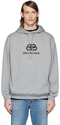 Balenciaga Grey BB Hoodie