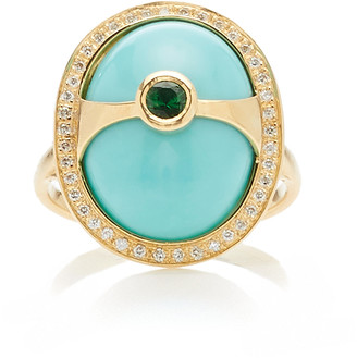 EOS Yi Collection 18K Gold And Multi-Stone Ring