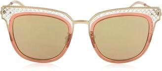 Bottega Veneta BV0122S Square Acetate Frame Women's Sunglasses