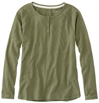 L.L. Bean L.L.Bean Organic Cotton Tee, Long-Sleeve Henley