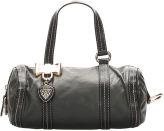 Gucci Black Leather Mini Duchessa Boston Bag