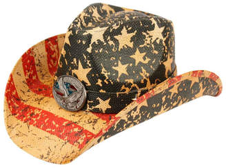 Angela & William American Flag Cowboy Hat