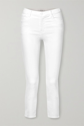 J Brand Ruby Cropped High-rise Straight-leg Jeans - White