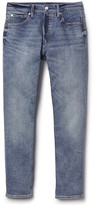 Gap Mid rise button-fly straight jeans