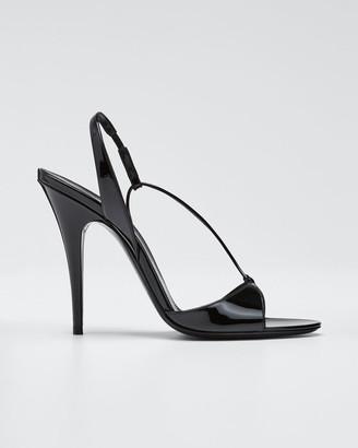 Saint Laurent Anouk Patent Slingback Sandals