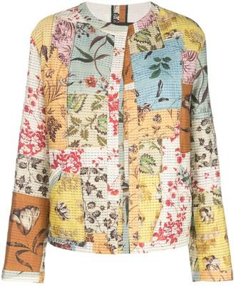 Oscar de la Renta Patchwork Floral Jacket