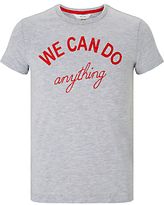 John Lewis Children's We Can Do Anything T-Shirt, Grey