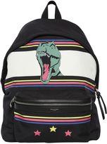 Saint Laurent T-Rex Printed Nylon Backpack