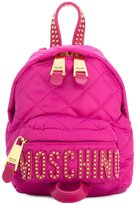 Moschino mini studded backpack - women - Leather/Polyamide - One Size