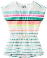 Osh Kosh Toddler Girl Multi-Stripe Short Sleeve Tunic