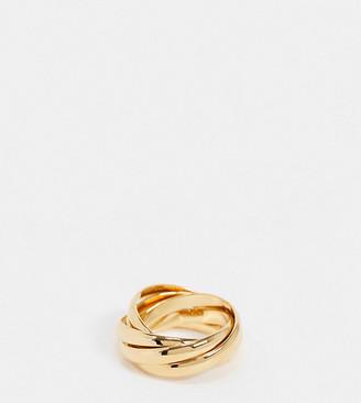 Orelia interlocking russian rings in gold plate