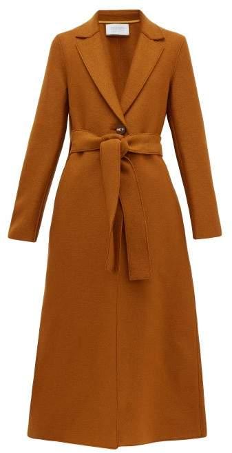 Harris Wharf London Single-breasted Pressed-wool Coat - Womens - Dark Brown