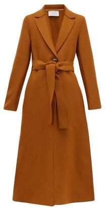 Harris Wharf London Single Breasted Pressed Wool Coat - Womens - Dark Brown