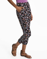 White House Black Market Floral Crop Knit Pants