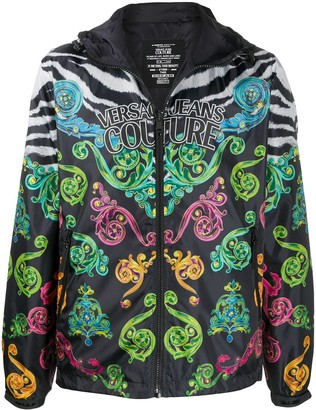 Versace baroque print bomber jacket