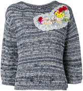 Antonio Marras flower embellished jumper - women - Cotton - S