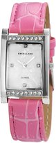 Excellanc 192022100113 - Women's Wristwatch, ecoLeather, color: rosa