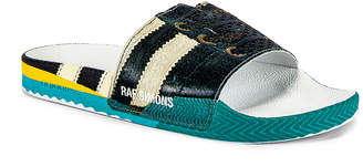 Adidas By Raf Simons Samba Adilette Slides in Black & White | FWRD