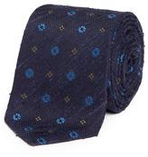 Lardini Floral jacquard woven silk tie