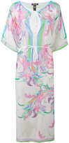 Roberto Cavalli floral print semi-sheer dress - women - Silk/Cotton - M