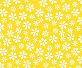 686 SheetWorld Fitted Basket Sheet - Primary Yellow Floral Woven - Made In USA - 13 inches x 27 inches (33 cm x cm)