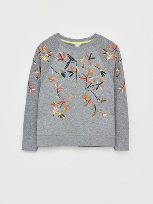 White Stuff Laundered Embroidered Sweat Top -