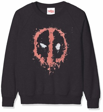 Marvel Girl's Deadpool Splat Face Sweatshirt