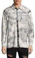 True Religion Long-Sleeve Cotton Button-Down Shirt