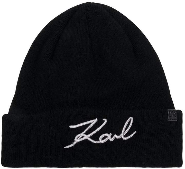587f615664ab5 Karl Lagerfeld Paris Black Women s Hats - ShopStyle