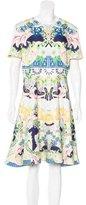 Mary Katrantzou Abstract Print A-Line Dress w/ Tags