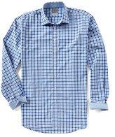 Thomas Dean Big & Tall Check Long-Sleeve Woven Shirt