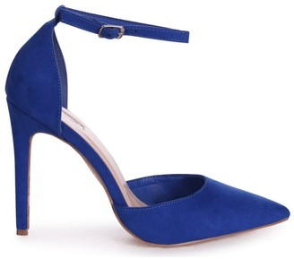 Linzi WHITNEY - Blue Suede Court Heel With Ankle Strap