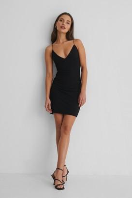 Selma Omari X NA-KD Bodycon Strap Mini Dress