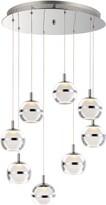 clear Senters 8 - Light Cluster Globe LED Pendant Orren Ellis Finish: Polished Chrome, Shade Color