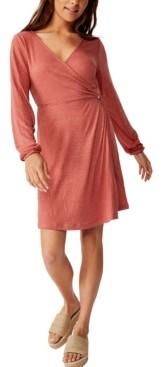 Cotton On Saskia Long Sleeve Wrap Mini Dress